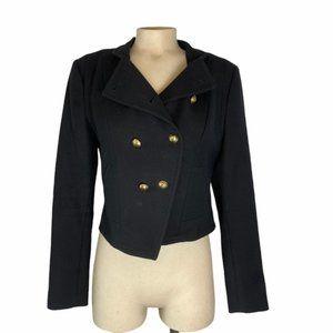 JUICY COUTURE Vintage Wool Navy Short Jacket Med